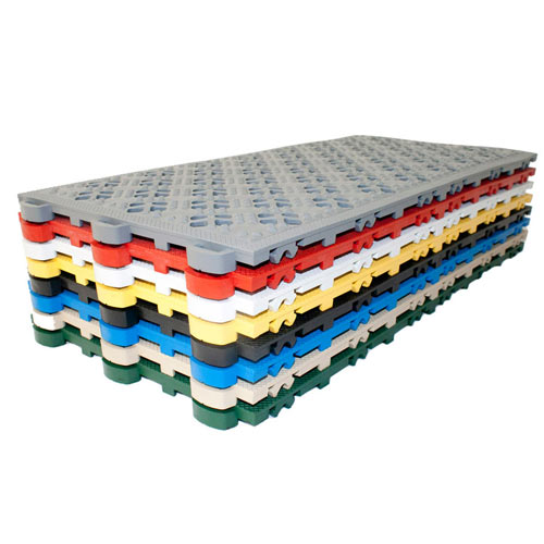 Ergo Matta Perforated Surface stack of colors.