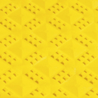 Ergo Matta Perforated - large holes yellow swatch.