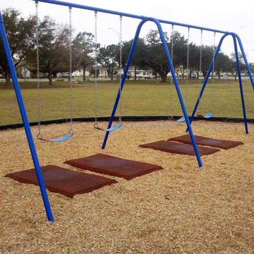 Rubber Playground Mats Slide Mats Swing Mats Blue Sky