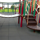 MX Outdoor Play and Patio Rubber Tile 1 Inch Colors thumbnail
