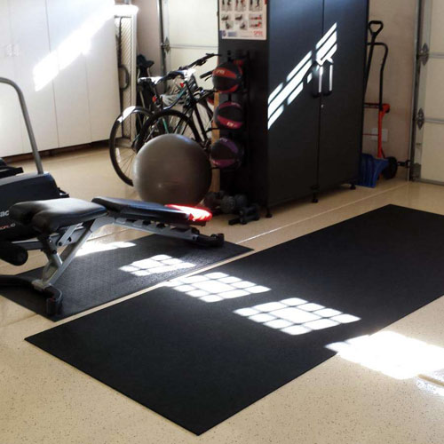 Plyometric Roll 8mm 4x10 ft Black home workout floor.