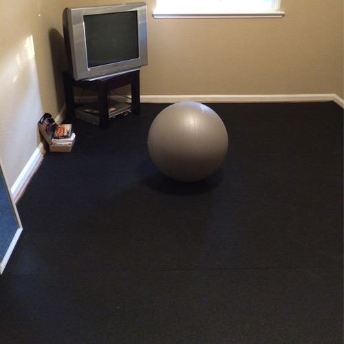 Plyometric Roll 8mm 4x10 Ft Black Workout Room