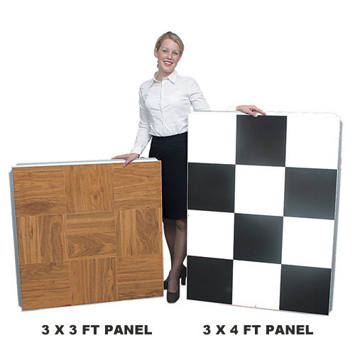 Portable Dance Floor 3x4 Ft Wood Grain Vinyl Cam Lock Comp