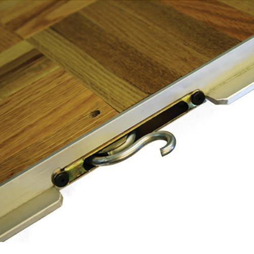 Portable Dance Floor 3x4 Ft Wood Grain Vinyl Cam Lock