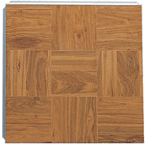 Portable Dance Floor 3x3 Ft Wood Grain Vinyl Cam Lock Full Tile