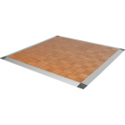 Portable Dance Floor 3x3 Ft Wood Grain Parquet Cam Lock