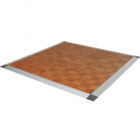 Portable Dance Floor 3x3 Ft Wood Grain Parquet Set Screw