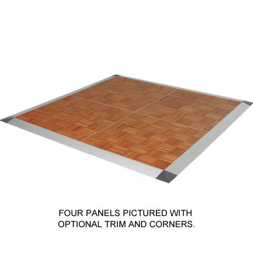 Portable Dance Floor 3x4 Ft Wood Grain Parquet Cam Lock