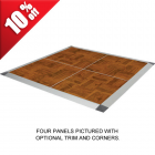 Portable Dance Floor 3x3 Ft Wood Grain Vinyl Set Screw thumbnail