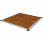 Portable Dance Floor 3x3 Ft Wood Grain Vinyl Set Screw