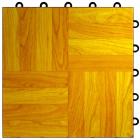 Portable Dance Floor Tile 1x1 Ft Light Oak