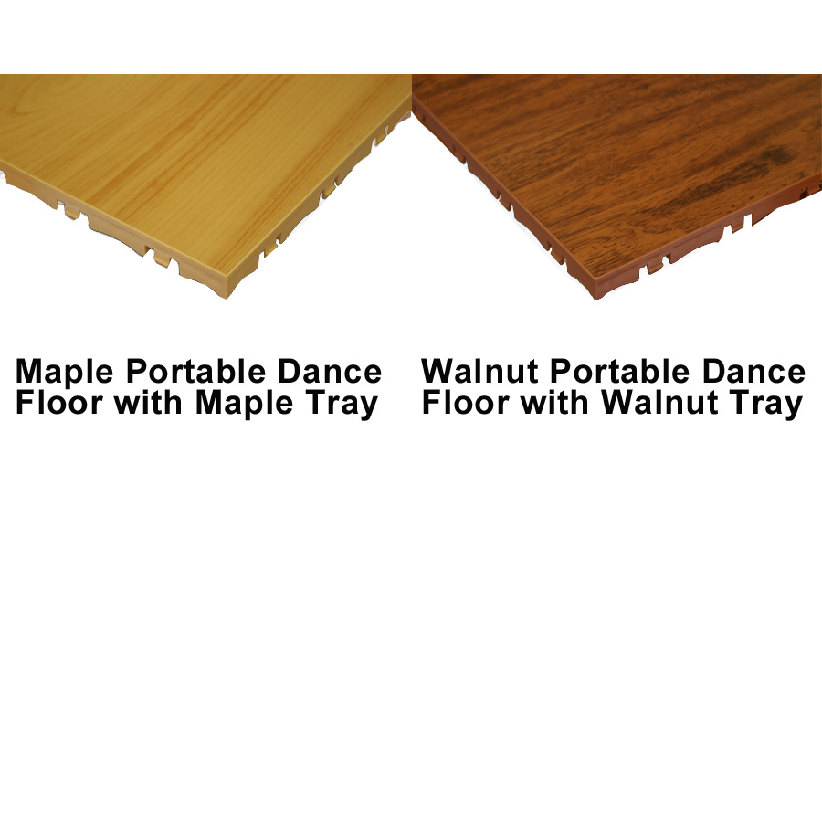 Portable Dance Floor Tile tray colors.