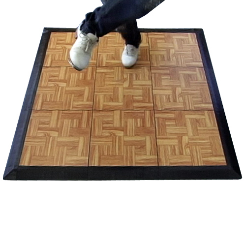 Tap Dance Floor Kit 9 Tiles outdoor 3x3 9-tiles.