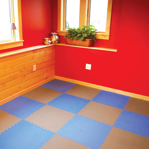 Foam mats for exercise flooring