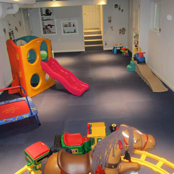 Foam floor mats for basement floors