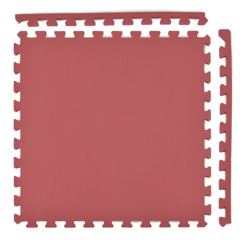 foam floor mats 58 premium burgundy full tile