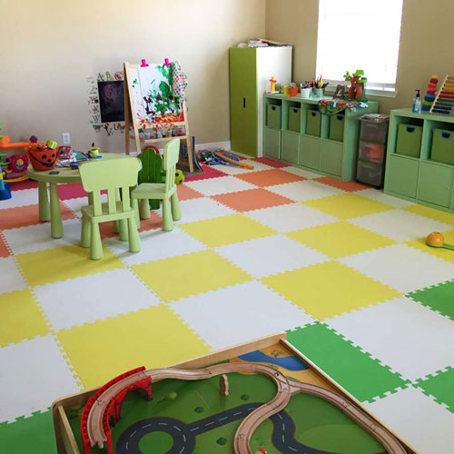 Foam Floor Tiles At Daycare