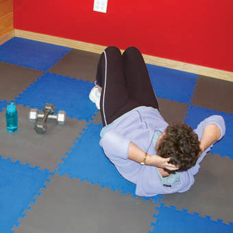 Foam matting for exercise flooring