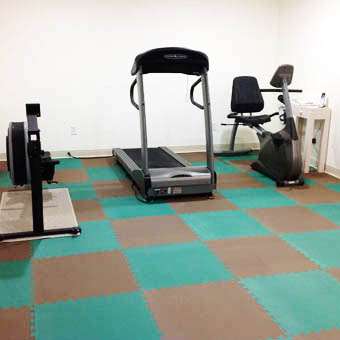 Foam exercise room mats