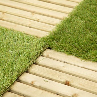 Artificial Outdoor Turf wood and grass double