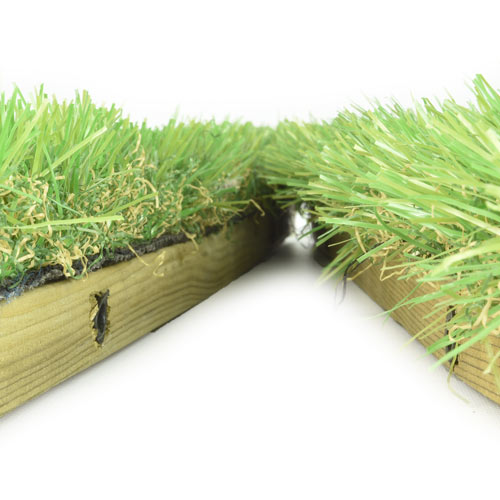 Outdoor Deck Turf Tile Wood Base Turf Top Tile Outdoor