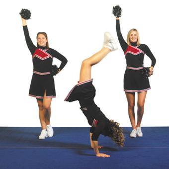 Cheerleading Mats 6x42 Ft Flexible All Star Cheer Mats
