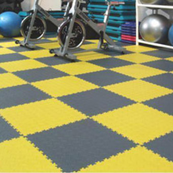 Modular Garage Floor Soft Diamond Work Out Room