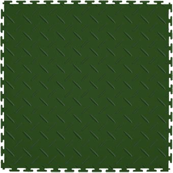 Modular Garage Floor Soft Diamond Forest Green