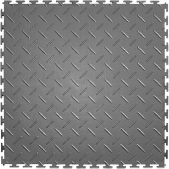 Modular Garage Floor Soft Diamond Light Gray
