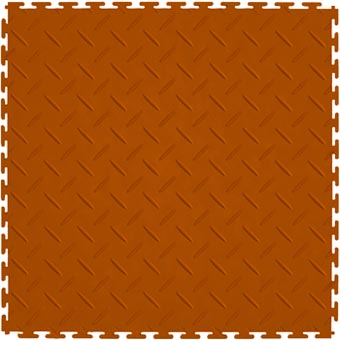 Modular Garage Floor Soft Diamond Orange