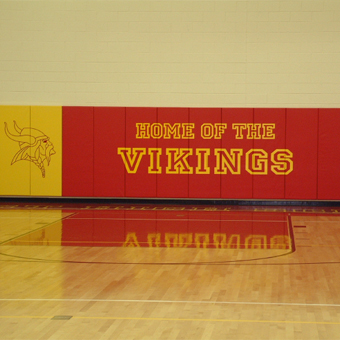 Custom gym wall pads are available in almost any color and design option.