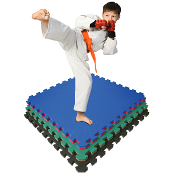 Home gym flooring is great for home martial arts and exercise gym floors.