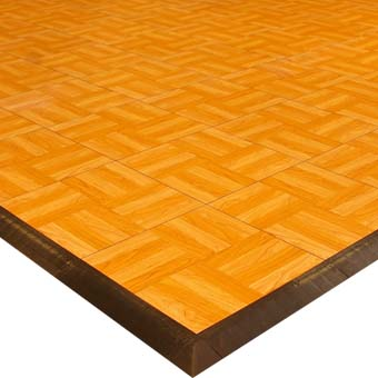 Modular portable dance floor tiles that are easy to install.