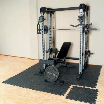 Home gym flooring for basements.