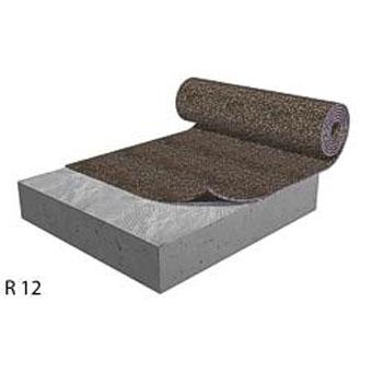 Floor underlayment cork rubber sound acoustical for Cork playground flooring