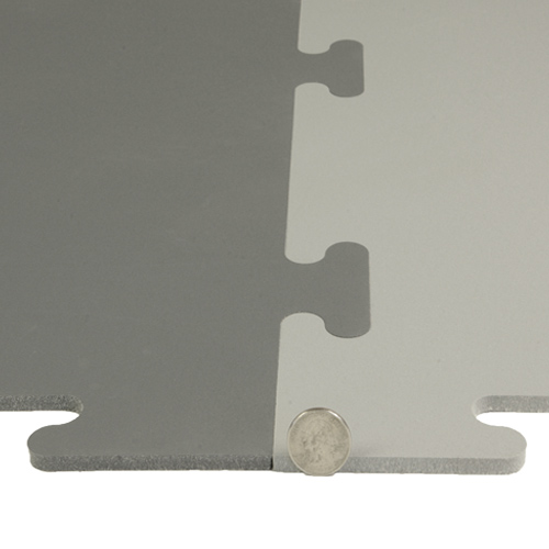 Protect All Interlocking Floor Tile Grays thickness.