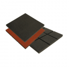 Ballistic Rubber Tiles 2x2 ft Black