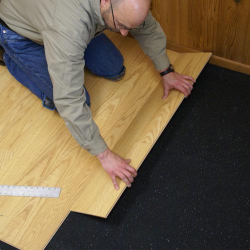 Rubber Sound Flooring Underlayment, 1/4 inch x4 x 25 Ft Roll, Sound Absorption Rubber