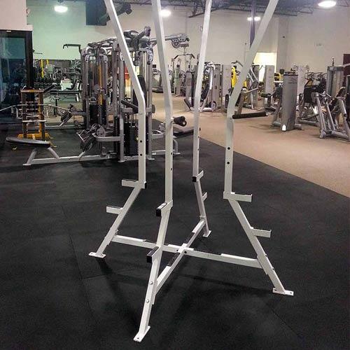 Gym Rubber Floor Mat 4x6 ft x 1/2 Inch Black - Rubber Gym Mats