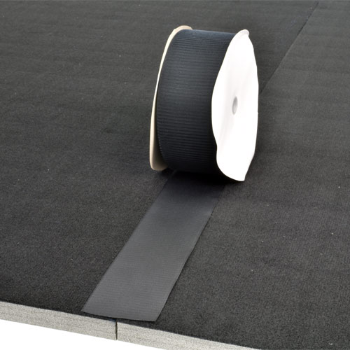 Gmats Cheer Mats Connect Strips 75 Ft Black 4 Inch apply