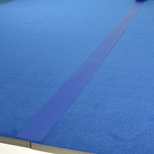 Gmats Cheer Mats Connect Strips 75 Ft Blue 4 Inch applied