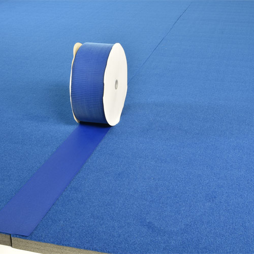 Gmats Cheer Mats Connect Strips 75 Ft Blue 4 Inch apply
