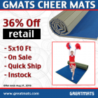 Gmats Cheer Mats 5x10 Ft x 1 3/8 Inch thumbnail