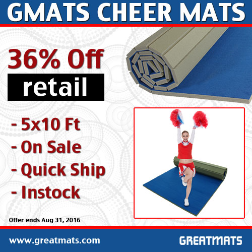 Gmats Cheer Mats 5x10 Ft x 1 3/8 Inch