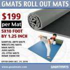 Gmats Roll Out Mats 5x10 Ft x 1.25 Inch