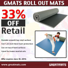 Gmats Roll Out Mats 5x10 Ft x 1.25 Inch thumbnail
