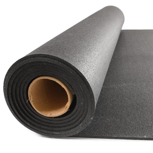 Black home rubber flooring 4x10 ft x 1 4 inch home for Rubber flooring