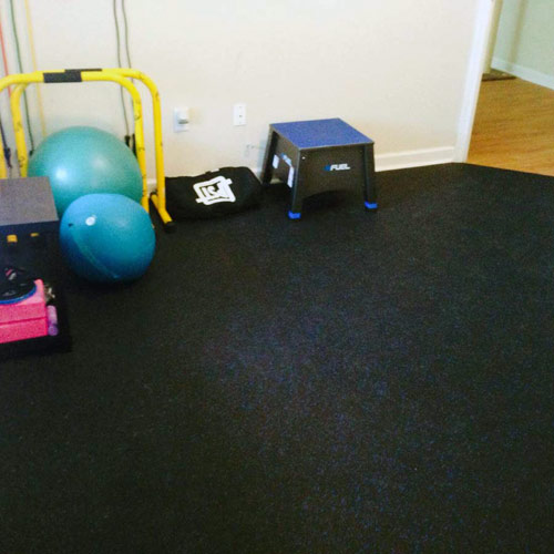 home rubber flooring - 4x10 ft gym floor roll
