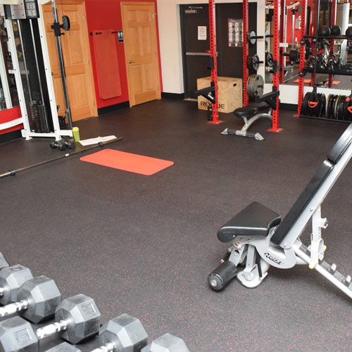 rolled rubber weight room flooring