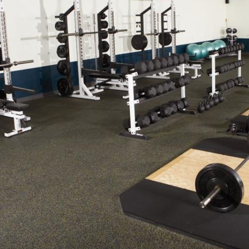 Rolled gym flooring 3 8 inch 20% color rolled rubber floors